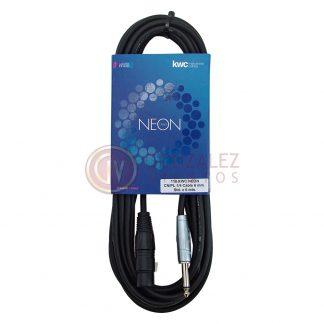 Cable KWC Neon 110 Canon Hembra - Plug 6 Metros-520