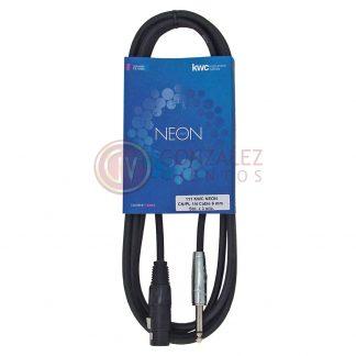 Cable Kwc Neon 111 Plug - Canon Hembra 3 Metros-524