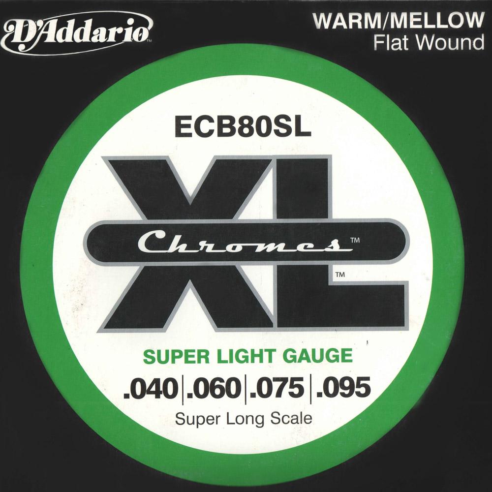 Encordado DAddario XL Chromes ECB80SL para Bajo de 4 Cuerdas-1860