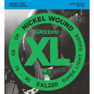 Encordado DAddario XL EXL220 40 - 95 Bajo 4 Cuerdas-1898