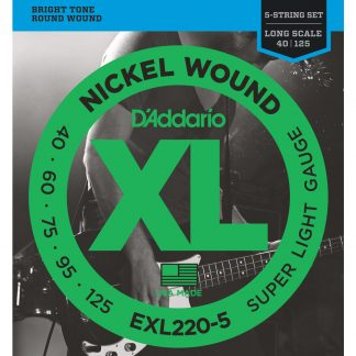 Encordado DAddario XL EXL220-5 40 - 125 Bajo 5 Cuerdas-1901