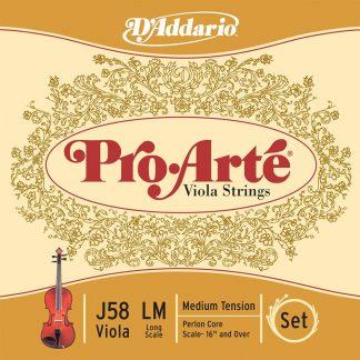 Encordado DAddario J58LM Pro Arte para Viola-3771