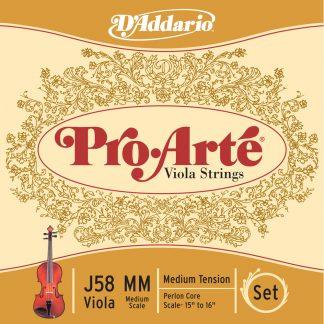 Encordado DAddario J58 MM Pro Arte para Viola-3772