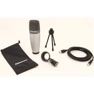 Microfono Samson C03U Condenser Multipatron-4361