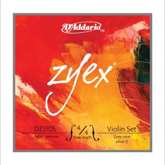 Encordado Daddario Zyex DZ310S Tension Baja Para Violin 4/4-4578