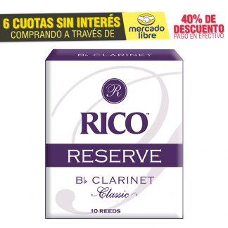 Cañas Rico Reserve Classic Para Clarinete Sib