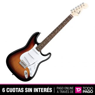 Guitarra Electrica Squier Stratocaster Bullet Brown Sunburst