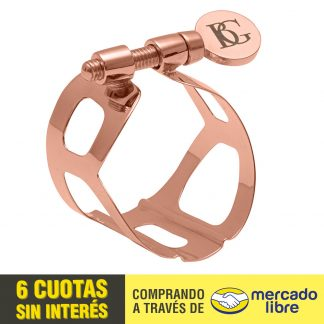 Abrazadera BG L19 Tradition Oro Rosa Para Saxo Alto