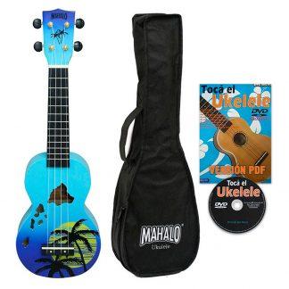 Ukelele Soprano Mahalo MD1HABUB Designer Hawaii Azul